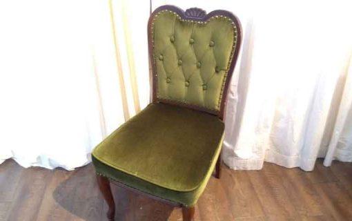 アンティーク椅子の張り替え